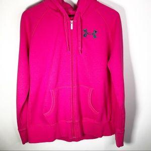 Under Armour Hot Pink Full Zip Hoodie XL